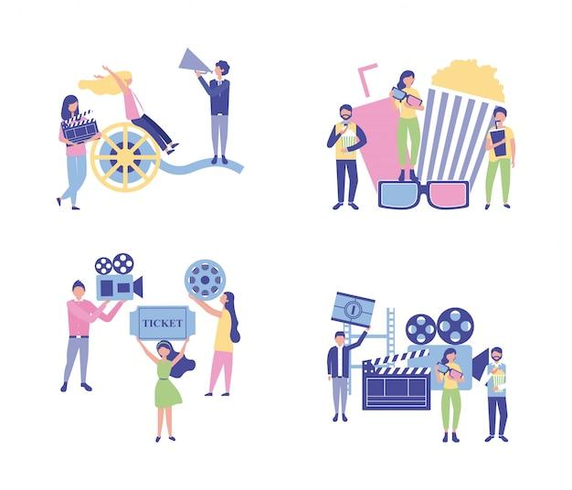 Produktion von filmleuten Kostenlosen Vektoren