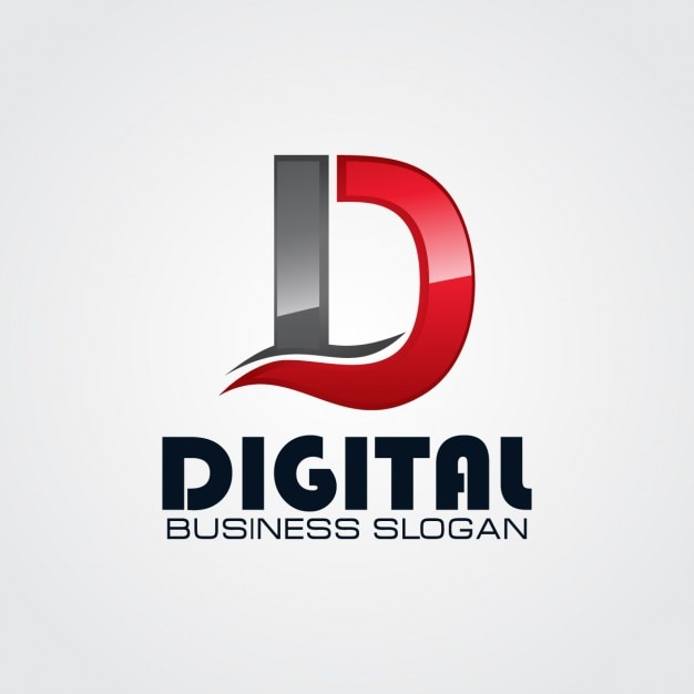 Professionelle buchstabe d logo Kostenlosen Vektoren