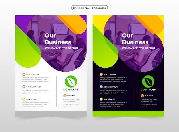 Professionelle business-flyer-design Premium Vektoren