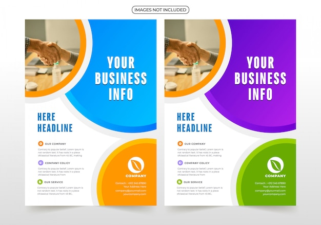 Professionelle business-flyer-design Premium Vektoren