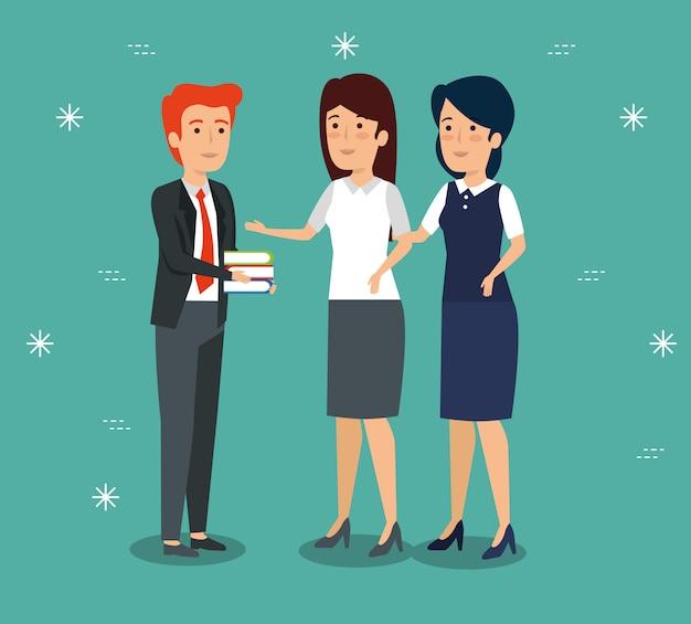 Professionelle geschäftsleute zusammenarbeiten Kostenlosen Vektoren