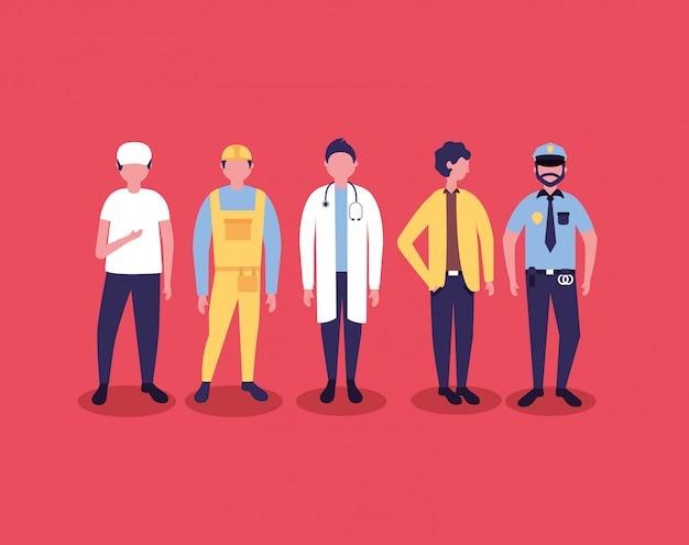 Professionelle menschen werktag Kostenlosen Vektoren