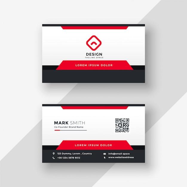 Professionelle Rote Visitenkarte Design Download Der