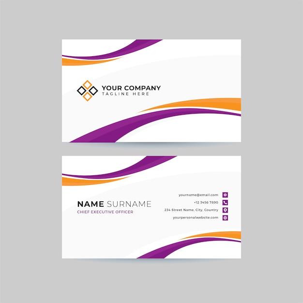 Professionelle saubere visitenkarte vorlage Premium Vektoren