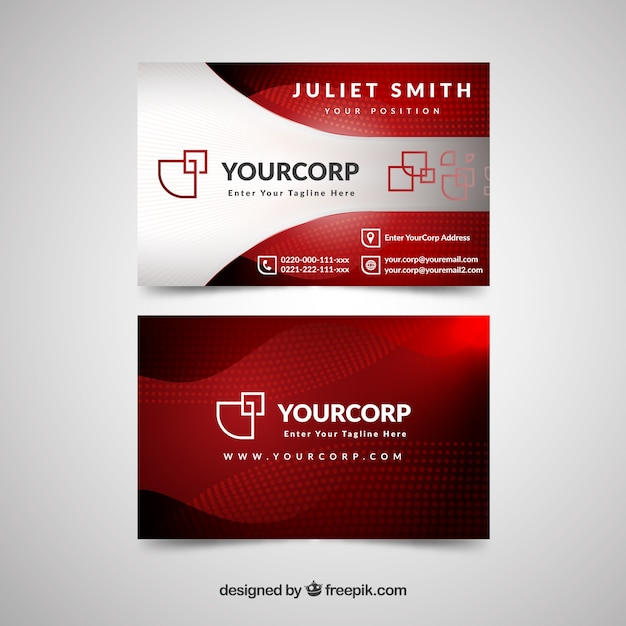 Professionelle Visitenkarte mit modernem Stil Kostenlose Vektoren