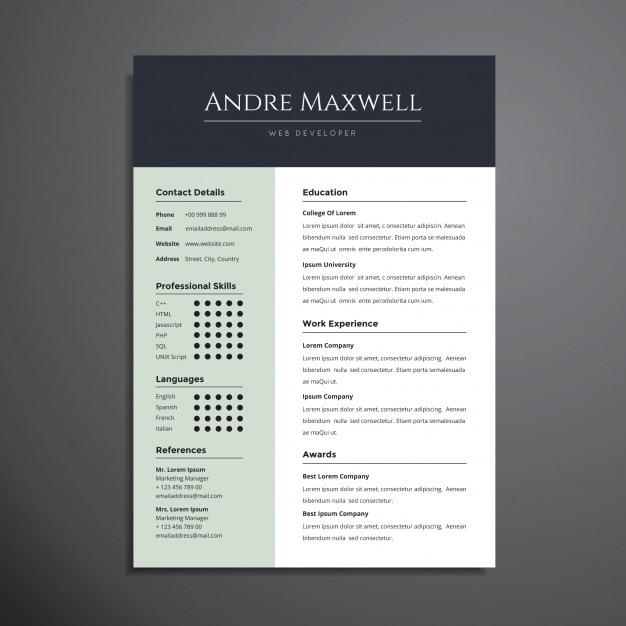 Professioneller Lebenslauf Cv Template Design Download Der Premium