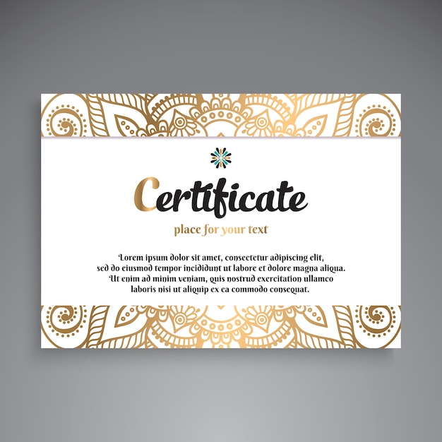 Professionelles zertifikat template design Kostenlosen Vektoren