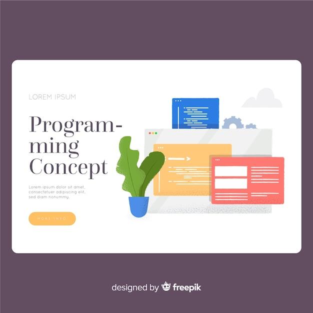 Programmierkonzept landing page vorlage Kostenlosen Vektoren