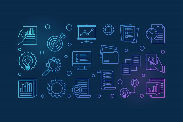 Projektmanagement Premium Vektoren