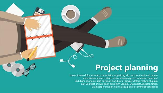 Projektplanung Kostenlosen Vektoren