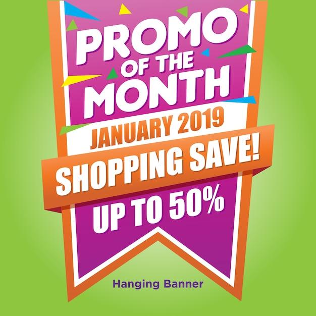 Promo bang banner Premium Vektoren