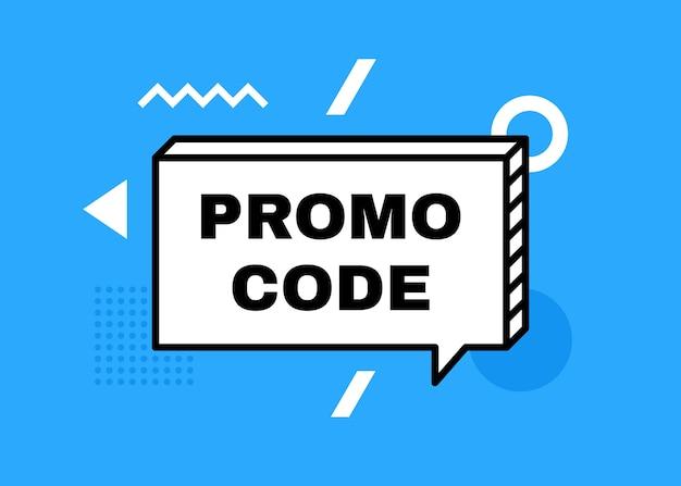 Promo-code, gutscheincode-banner. geometrisches banner mit unterschiedlicher abstrakter form. moderne illustration. Premium Vektoren