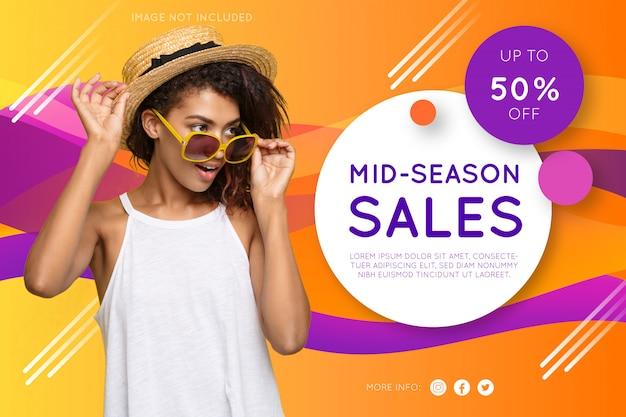 Promotion mode banner Kostenlosen Vektoren