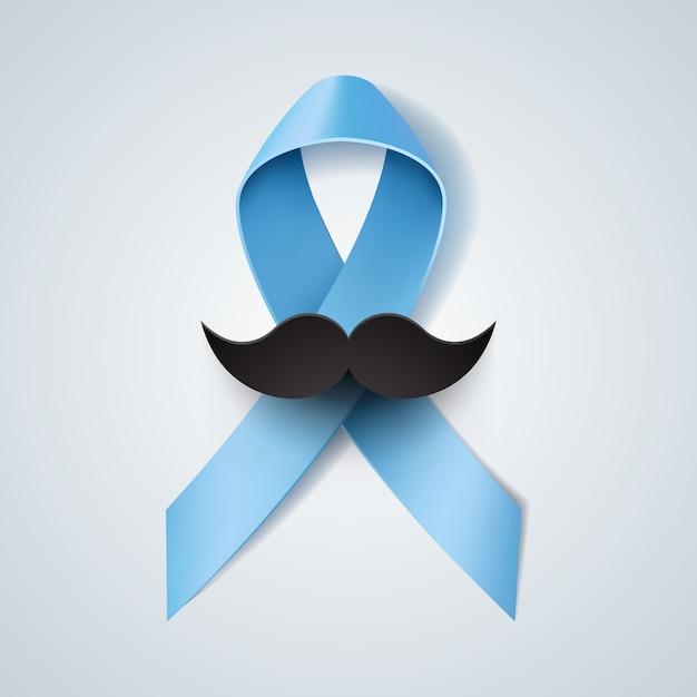 Prostatakrebs-bewusstseinsband für movember Premium Vektoren