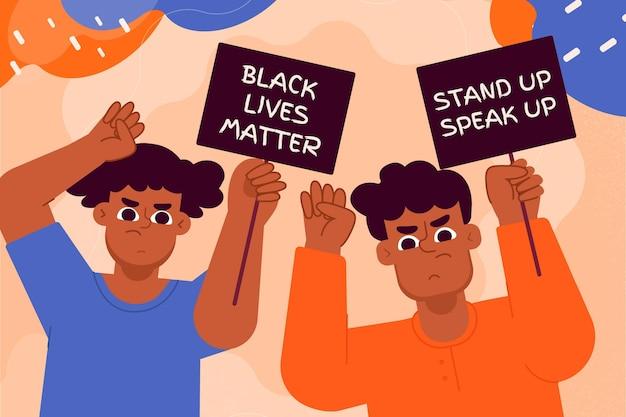 Protest gegen rassismus Kostenlosen Vektoren