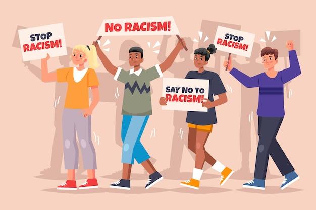 Protest gegen rassismuskonzept Kostenlosen Vektoren