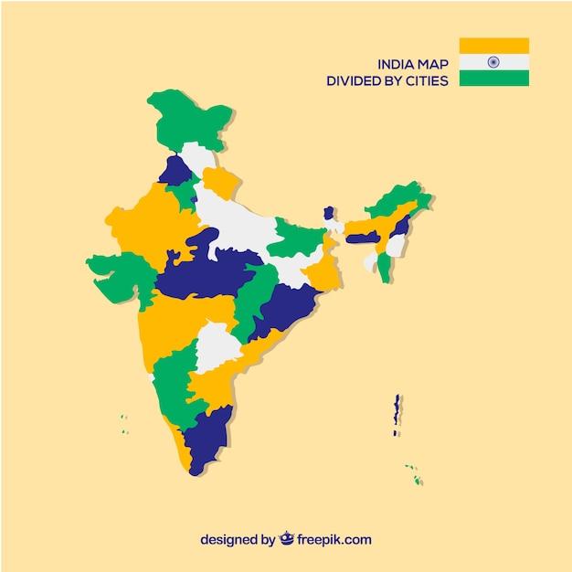 Provinzkarte von indien Kostenlosen Vektoren