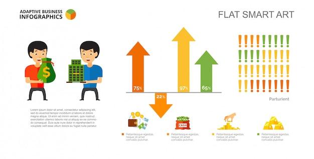 Prozent diagramm schablonenvorlage Kostenlosen Vektoren