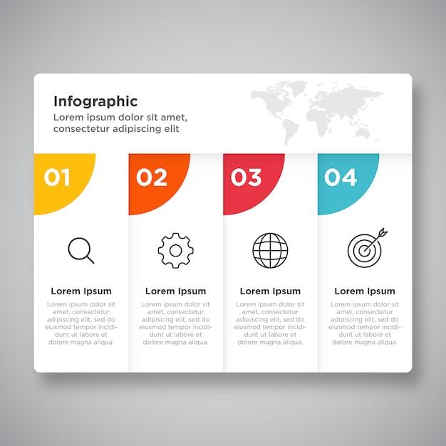 Prozess business infografik präsentation Premium Vektoren