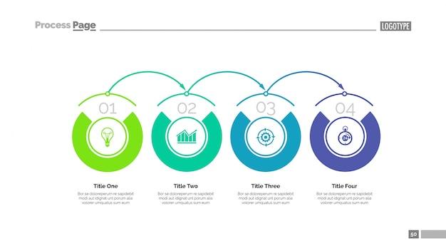 Prozeßdiagramm folienvorlage Kostenlosen Vektoren