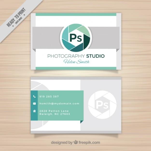 Ps-logo visitenkarte Kostenlosen Vektoren