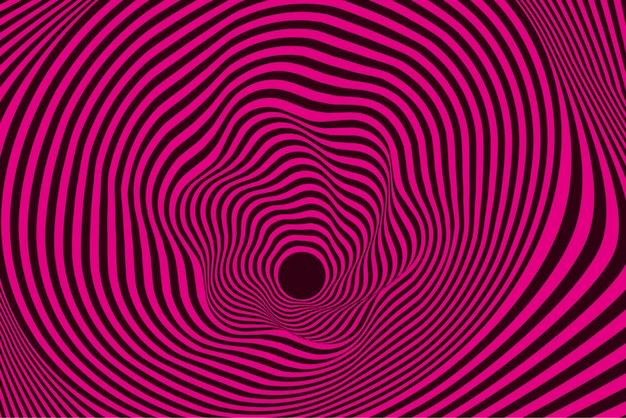 Psychedelisch verzerrter rosa und schwarzer hintergrund Kostenlosen Vektoren