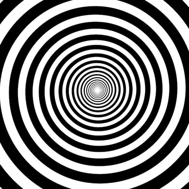 Psychedelische spirale mit radialen strahlen Premium Vektoren
