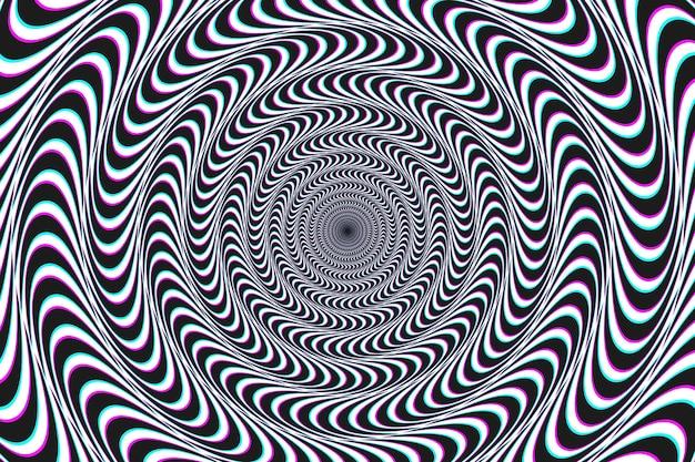 Psychedelischer optischer täuschungshintergrund Kostenlosen Vektoren
