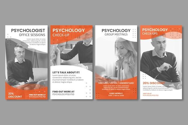 Psychologie büro instagram geschichten vorlage Kostenlosen Vektoren