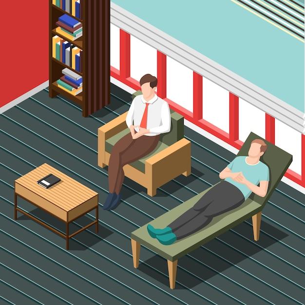 Psychotherapie, die isometrische szene berät Kostenlosen Vektoren