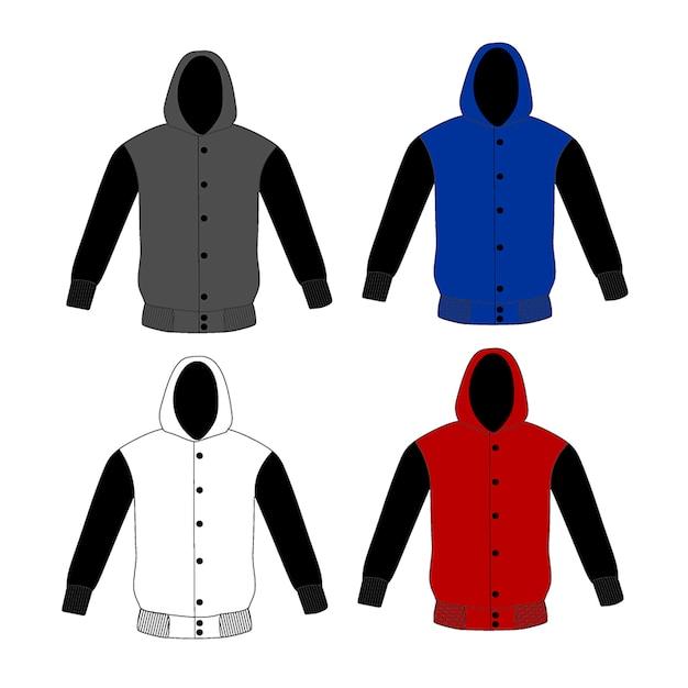 Pullover Hoodie Vorlage | Download der Premium Vektor