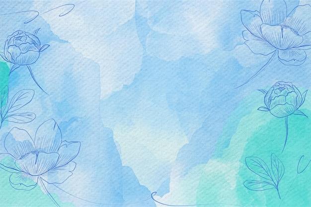Pulver pastell aquarell hintergrund design Premium Vektoren