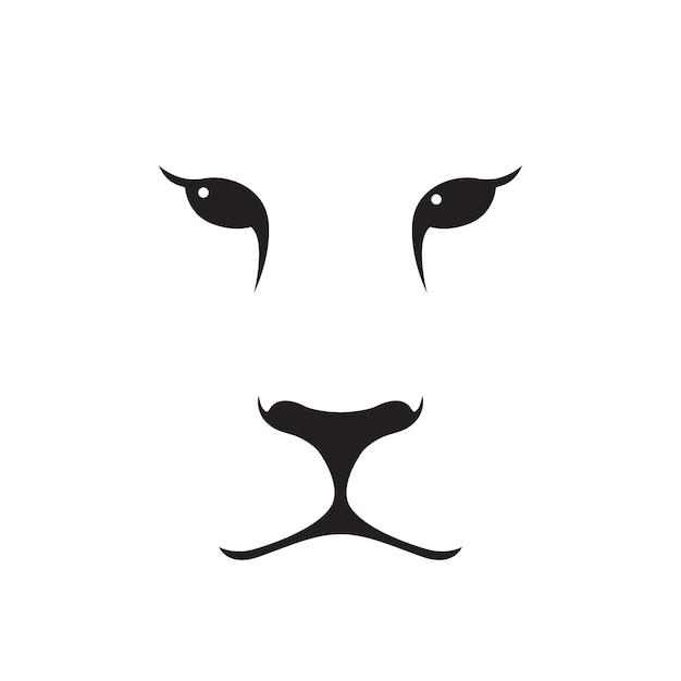 Puma-mündungsschattenbild. Premium Vektoren