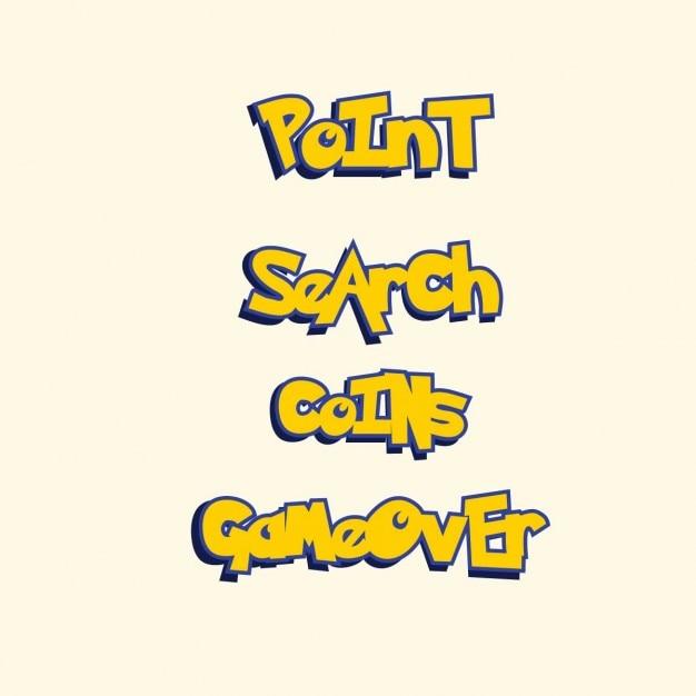 Punktsuche Münzen Spiel über Pokemon Go Stil Spiel Schriftzug