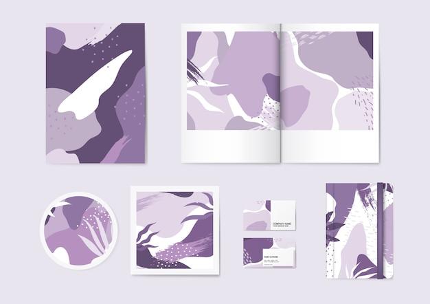 Purplememphis-mustervektorsatz Kostenlosen Vektoren