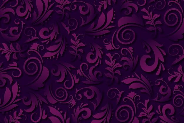 Purpurroter abstrakter dekorativer blumenhintergrund Kostenlosen Vektoren