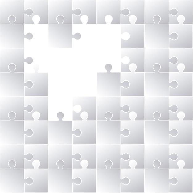 Puzzle-konzept-design Premium Vektoren