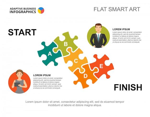 Puzzle prozess diagramm vorlage Kostenlosen Vektoren