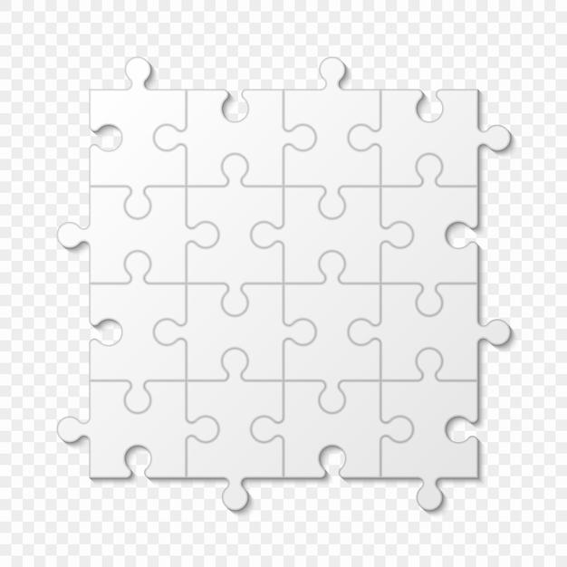 Puzzle-stück geschäftspräsentation Premium Vektoren