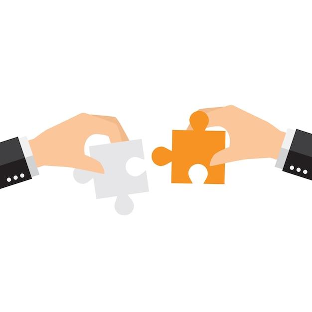 Puzzle-stücke hintergrund-design Kostenlosen Vektoren