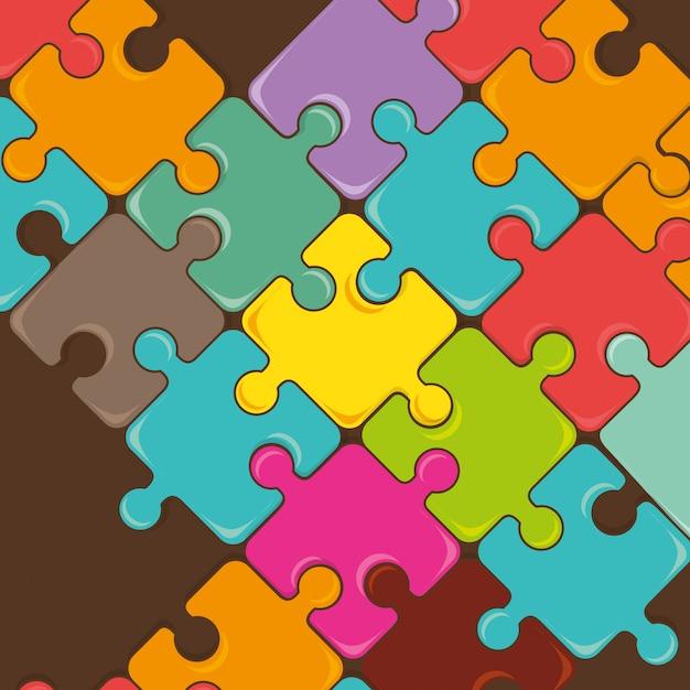 Puzzleteile teamarbeit Premium Vektoren