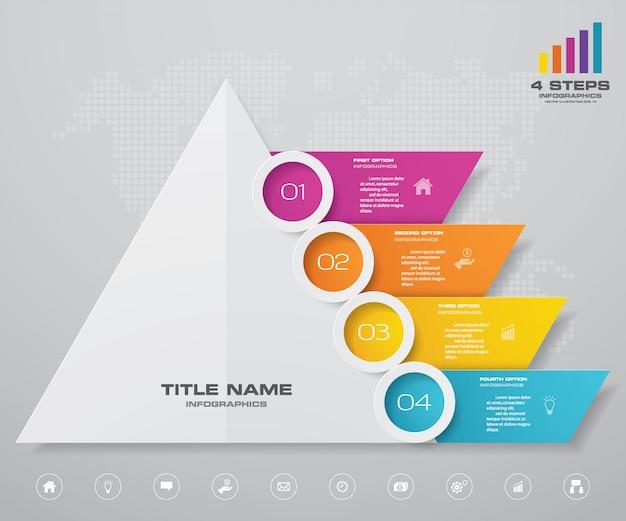 Pyramidendiagramm infografiken Premium Vektoren