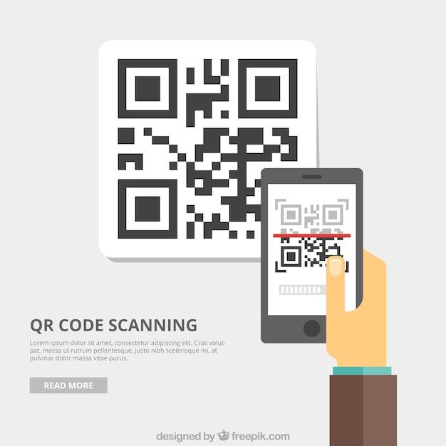 Qr code hintergrund Kostenlosen Vektoren