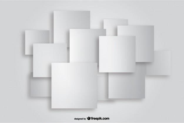 Vector Square Background Hd Vector Three Dimensional: Quadrat Papier Ausschnitt Hintergrund