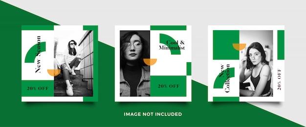 Quadratische banner vorlage für modegeschäfte Premium Vektoren