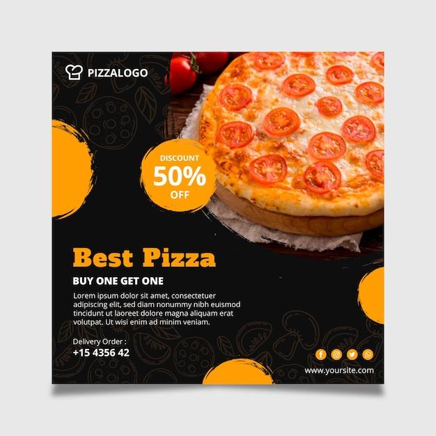 Quadratische flyer-vorlage für italienisches restaurant Kostenlosen Vektoren