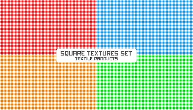 Quadratische texturen festgelegt Premium Vektoren