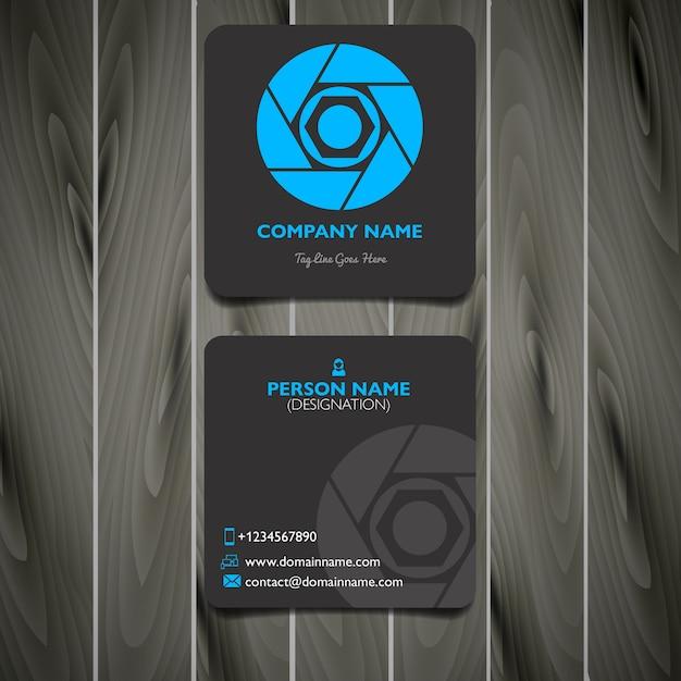 Quadratische Visitenkarte Für Fotografen Premium Vektor