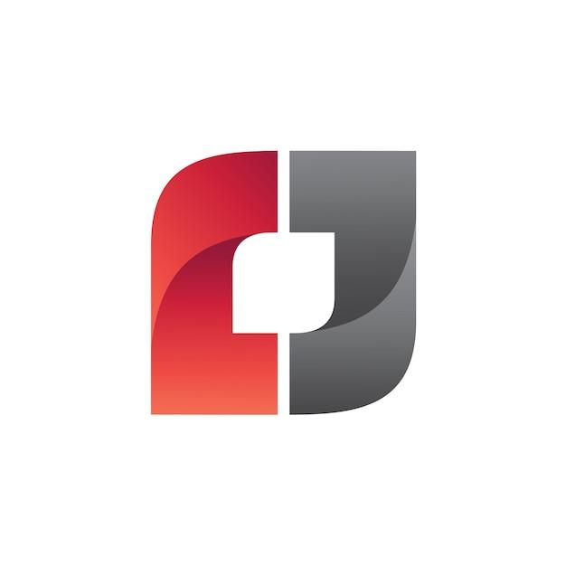 Quadratischer logo-vektor Premium Vektoren