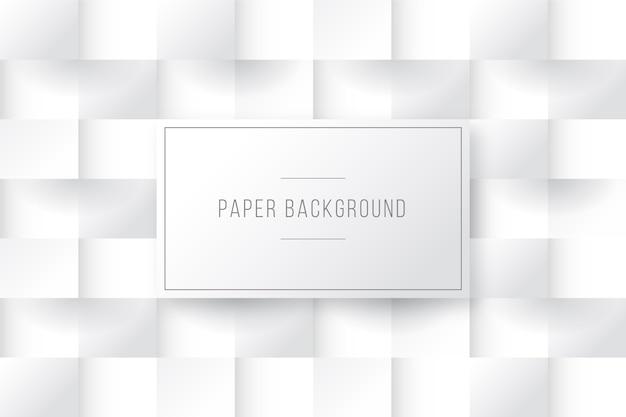 Quadriert hintergrund in der art des papiers 3d Kostenlosen Vektoren